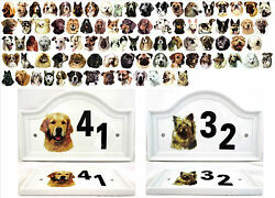 Dog House Door Plaque Porcelain Outdoor Different Breeds M To Z Any Number