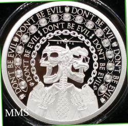 2019 1oz Dont Be Evil Proof Silver Shield Infoindcom Series 5 - Low Coa S