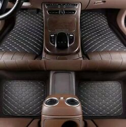 Universal Car Suv Truck Mat 4pcs Leather Waterproof Pads Protector Luxury