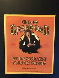 1989 Old Grand Dad Whiskey Print Ad Approximately 12 X 10