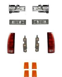 Headlights For Chevy Truck 1990-1993 Signals Reflectors Tail Lights With Boards