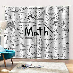 Confused Mathematical Mysteries Printing 3d Blockout Curtains Fabric Window