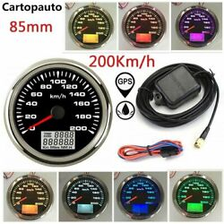 85mm Boat Gps Speedometer Gauge Tuning Lcd Odometer 200km/h 7 Colors Backlight