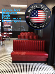 Restaurant Booth 6 Channels Back Single And Double Sided Booth,made In Usa