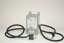 New 30 Amp 208v Buck Boost Transformer - Plug And Connector Cables Included