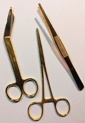 Vintage Brass Medical Surgical Tools/instruments Lot Of 3