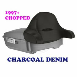 Charcoal Denim Chopped Tour Pak Pack Trunk Latch For Harley 97-20 Touring Street