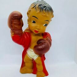 Baby Boxer African American Aa Squeeze Vintage Squeaker Toy 10 Large