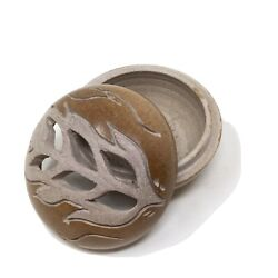 Carved Soapstone Feather Smudge Pot Six Nations