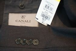 Canali 1934 Silver Label Solid Gray 100 Wool 2 Pc Suit Jacket Pants Big 50l New
