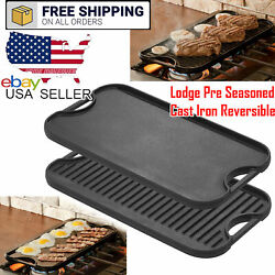 Lodge 20 X 10.5 Inch Cast Iron Reversible Grill/griddle Home Outdoor Camping
