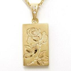 Jewelry 18k Yellow Gold Necklace Diamond About27.1g Free Shipping Used