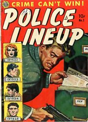Police Line Up  1   Vgf   8/51  There Are Few Letters Written In Ink/mar