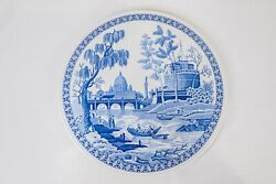 Spode Blue Room Collection Rome Cake Plate Platter 11 3/8 Dia Free Usa Shipping