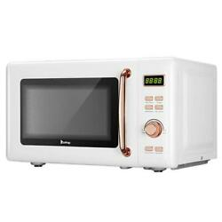 700w B20uxp52/ 20l/0.7cuft Retro Digital Microwave With Display / Golden Handle