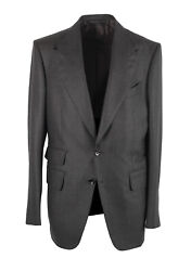 New Tom Ford Shelton Checked Gray Suit Size 52 It / 42r U.s.
