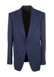 New Tom Ford Shelton Solid Blue Suit Size 52 It / 42r U.s.