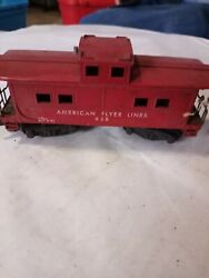 Vintage A.c. Gilbert Co. American Flyer Lines 938 Caboose, Red. S Scale