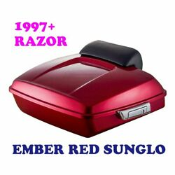 Ember Red Sunglo Razor Tour Pack Luggage For 97-2020 Harley Street Road Glide