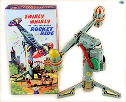 """Original Japanese Vintage 1940s """"twirly Whirly Rocket Ride"""" Battery Operated Toy"""