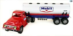 Perfect Vintage 1950s Restored Tonka 'mobil' Gas Tanker Truck With Trailer