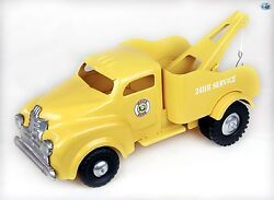 Awesome 1950 Vintage Restored Lincoln Tonka White Rose 24 Hr Service Tow Truck