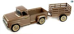 Awesome Vintage Original 1960s 'tonka Toys' Pressed Steel Truck And Trailer