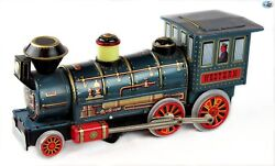 Awesome 1960s Vintage 'modern Toys Mt' Western Train Locomotive Battery Operated