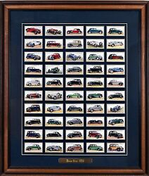 1936 American Classic Cars - 50 Cigarette Cards Brief History Motor Cars Framed