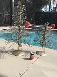 2 Dillards Trimsetter Beaded Branch Mardi Gras Trees 38 New With Tags