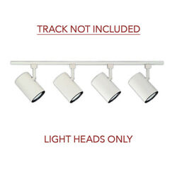 4 Pack Nicor Track Lighting Light Heads H Type 3-wire Compatible White Br30 Par3