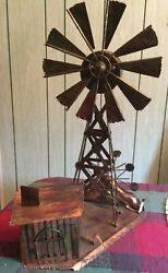 Berkeley Designs-vintage Copper Art Music Box Large Windmill And House