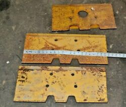 Lot Of 3 Nos 8e 4496 Track Shoe Tractor Blade Shoes Free Shipping