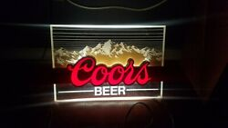 Coors Beer Bar Neon Lighted Sign Vintage
