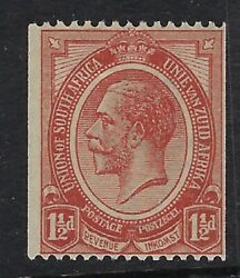 South Africa 1920 1 1/2d Chestnut Coil Stamp Sg20 Mint Hinged