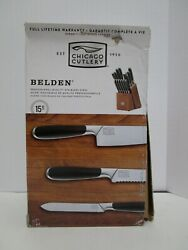 Chicago Cutlery Belden 15 Pc Professional Quality Stainless Steel Knife Vvv 473