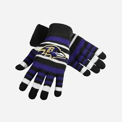 Baltimore Ravens Stretch Gloves Kids Size Small Nwt