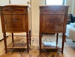 French Antique Bedside Cabinets C.1890