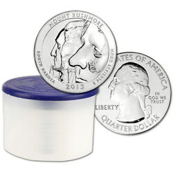 2013 Atb Mount Rushmore Silver 5 Oz 25c Bu 10 Coins In Mint-issued Tube