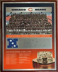 2006 Chicago Bears National Conference Champions Wall Plaque Go Bears Coa