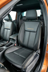 Ford Ranger Wildtrak T7 T8 Black Leather Front And Rear Interior Seats 2006-21