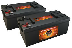 Qty2vmax Xtr8d-310 12v Agm Deep Cycle Battery For Rv/boat/bus Auxiliary Power