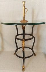 Maitland Smith Wrought Iron And Bronze Rams Head Occasional Table Zodiac Aries