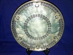 Silver Footed Cake Stand Tray 3922 Bernard Riceand039s Sons Inc Apollo Epns Pierced