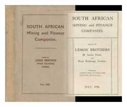 South African Mining And Finance Companies / Issued By Lemon Brothers