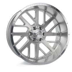 20 Inch 20x10 Axe Forged Ax2.1 Silver Brushed Wheels Rims 6x5.5 6x139.7 -19