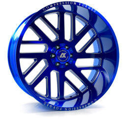 22 Inch 22x12 Axe Forged Ax2.7 Candy Blue Wheels Rims 8x170 -44
