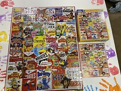 White Mountain Puzzle Vintage Cereal Boxes 1000 Jigsaw Puzzle Complete