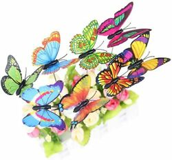 25p Butterfly Stakes Metal Set Outdoor Yard Decor Art Flower Bed Garden Display