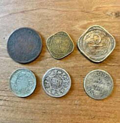 1862 - 1946 India Coins - Anna Plus Rupee Six In Total In Very Good Condition